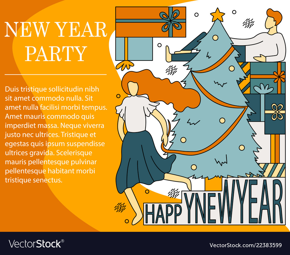 Concept of new year party