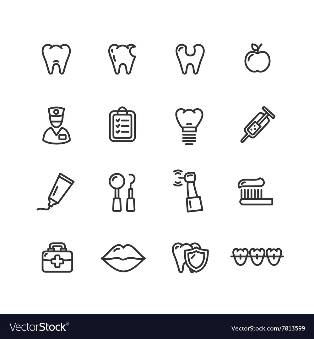 Dental Tooth Doctor Icon Set