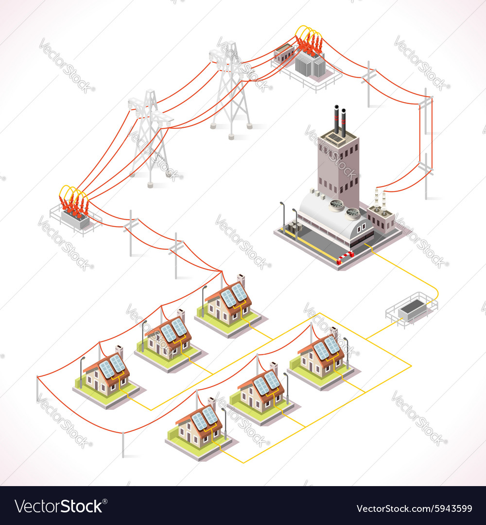 Energy 13 Infographic Isometric vector image