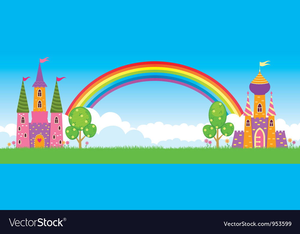 Fairy kingdom vector image