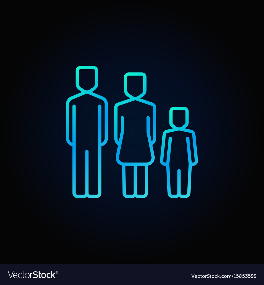 Family blue icon