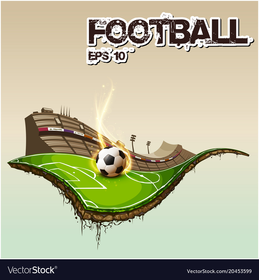 football text football stadium background i vector image vectorstock