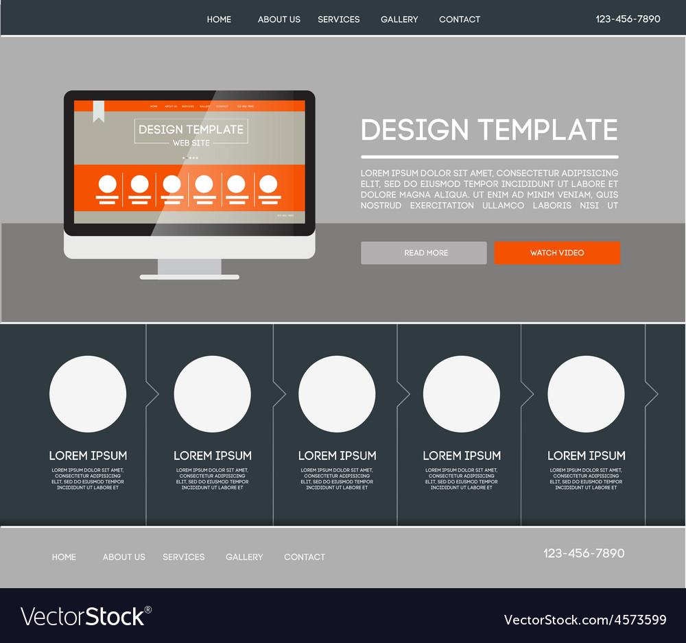 Landing page web Royalty Free Vector Image - VectorStock