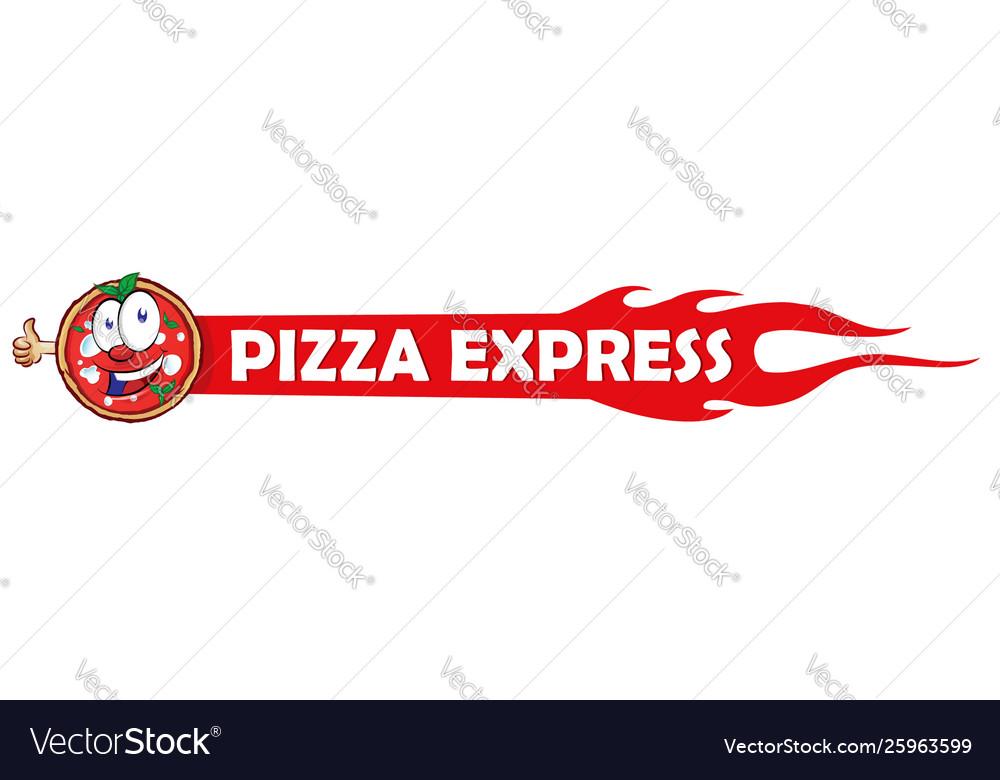 Logotype for restaurant pizzeria pizza express
