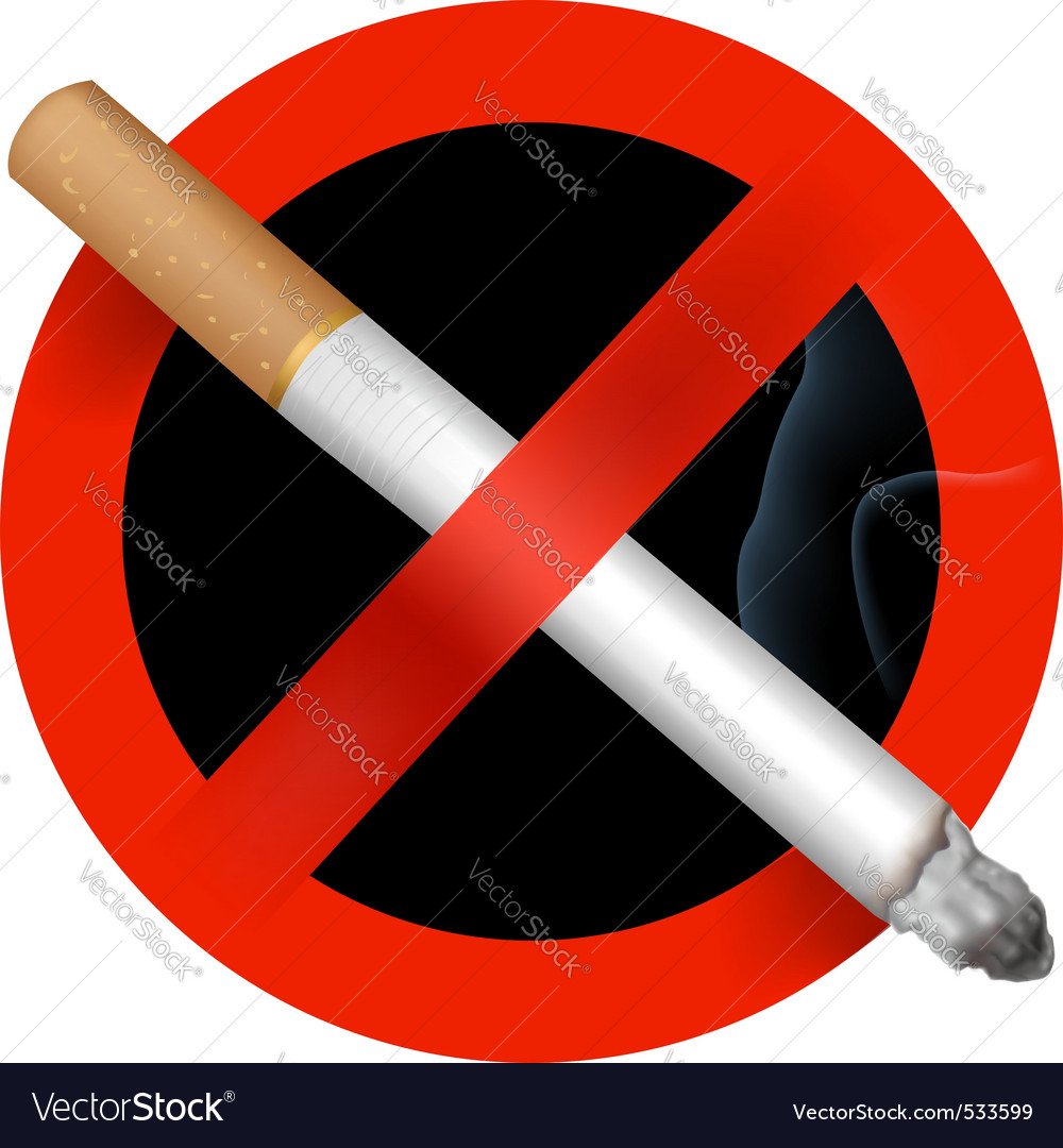No smoking sign vector vector image