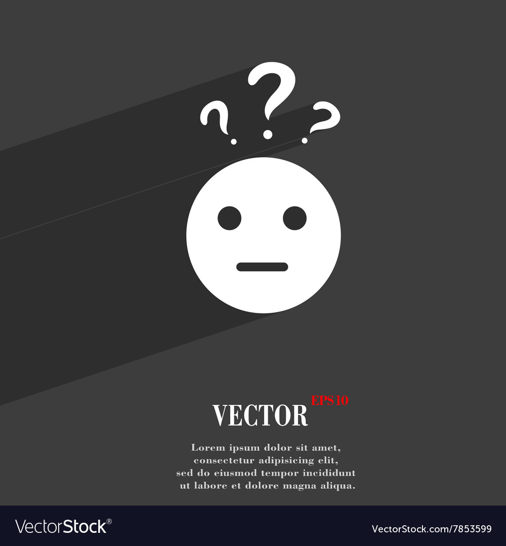 Question mark and man incomprehension symbol Flat vector image