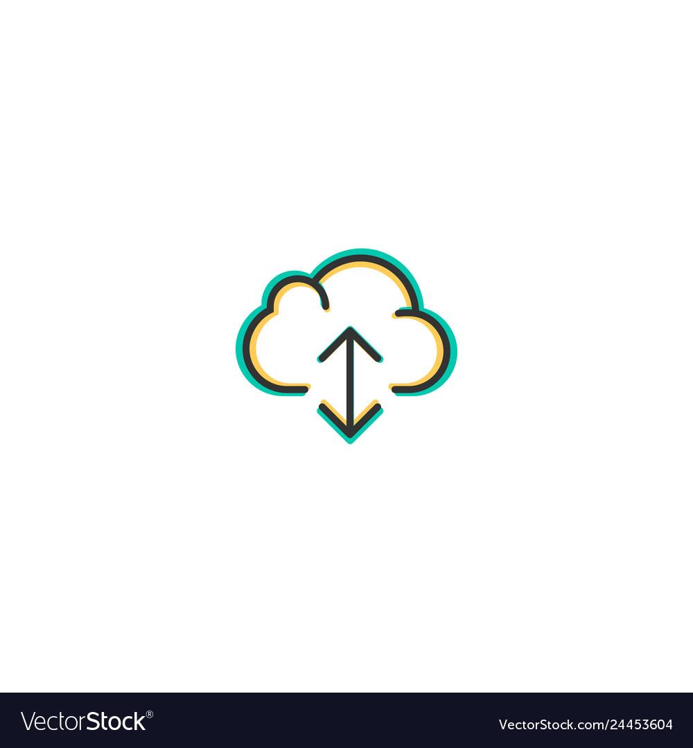 Cloud computing icon design essential icon design