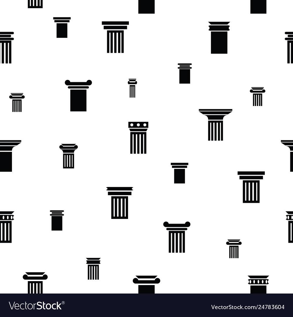 Column seamless pattern background icon