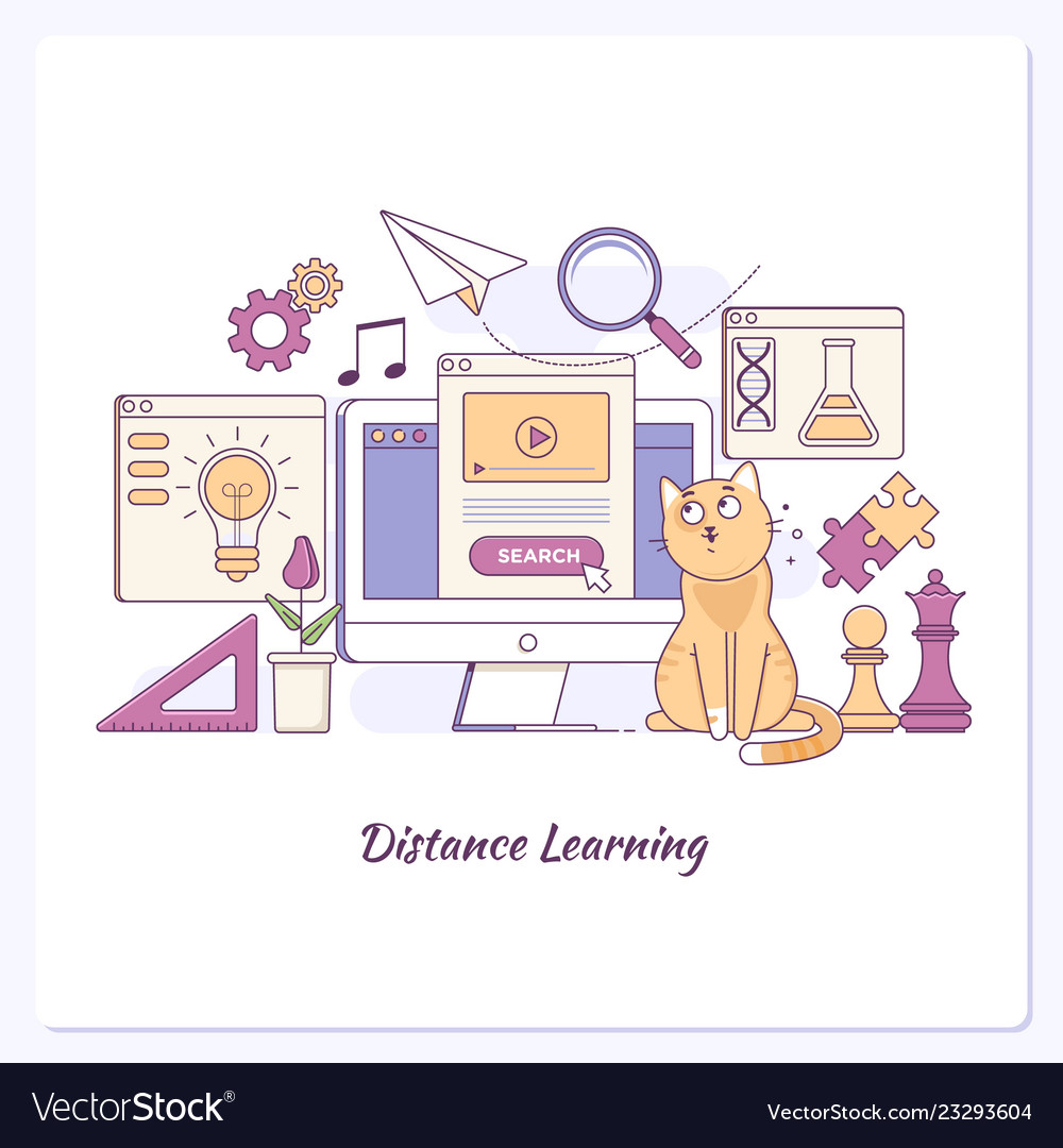 Landing page template of learing online business