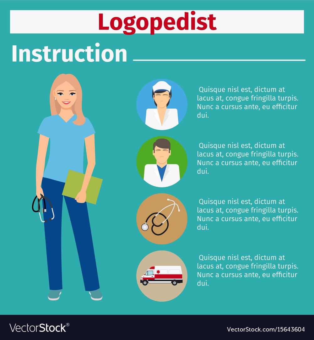 Medical equipment instruction for logopedist