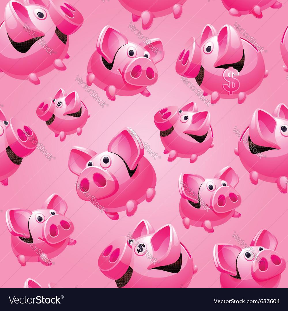 Piggy bank seamless