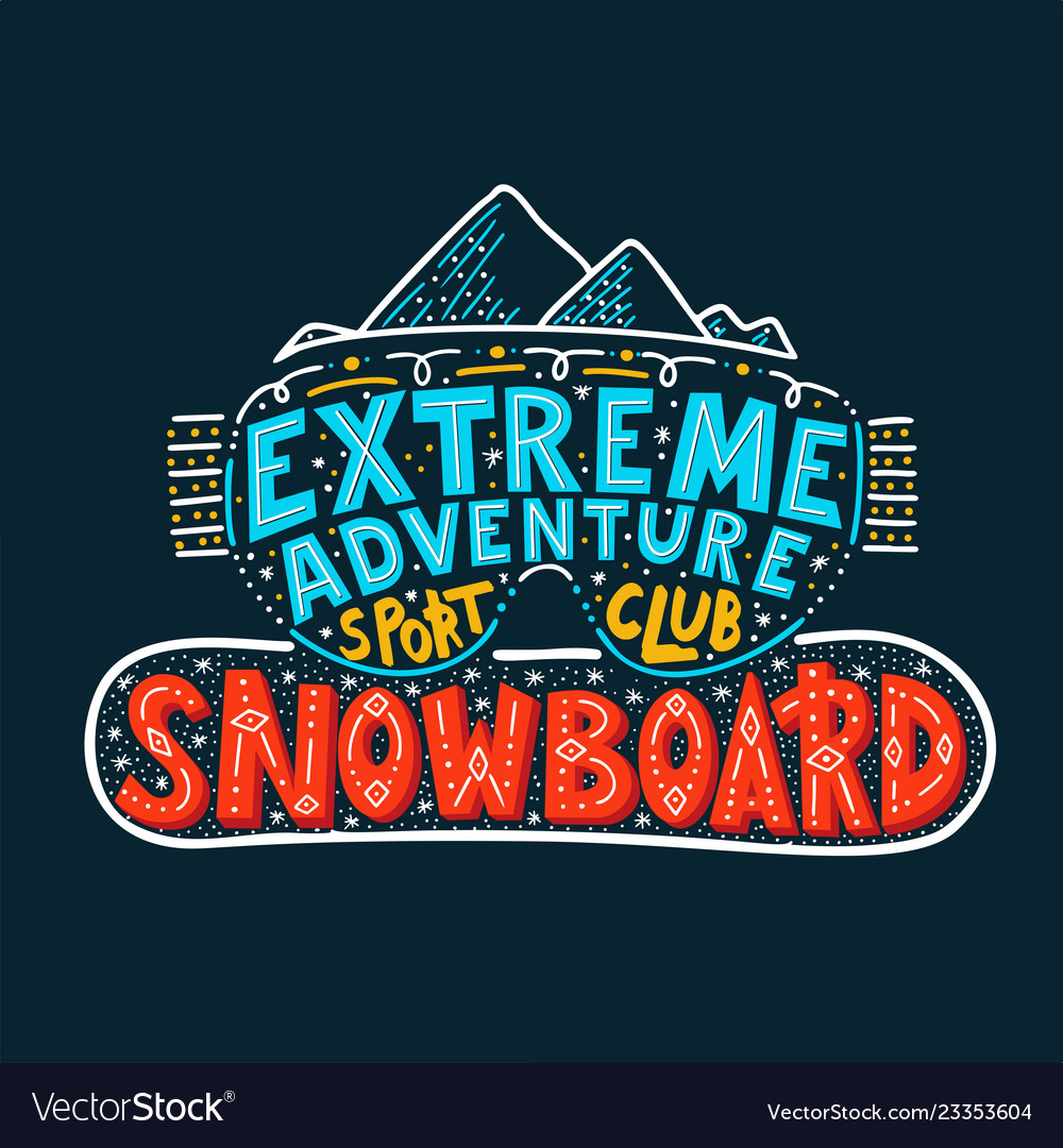 Snowboard club poster extreme