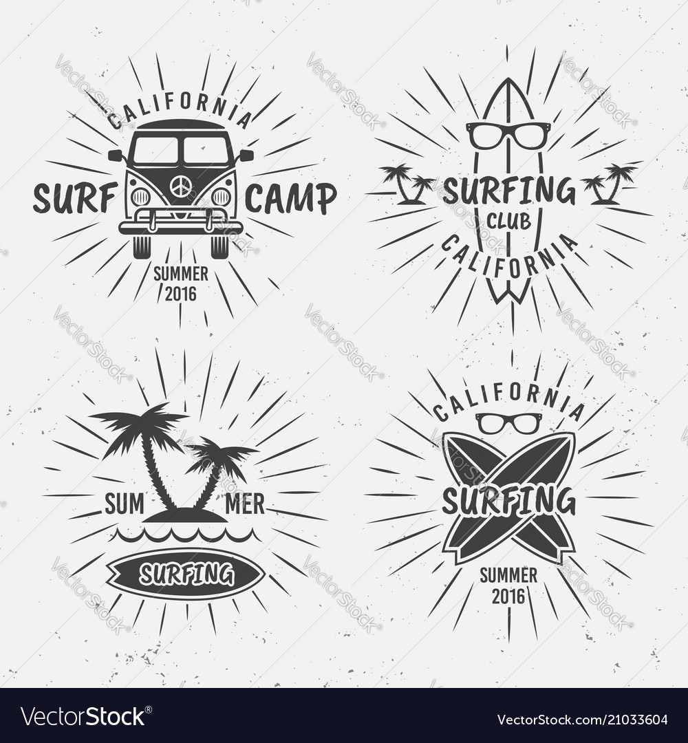 Surfing vintage black labels with rays