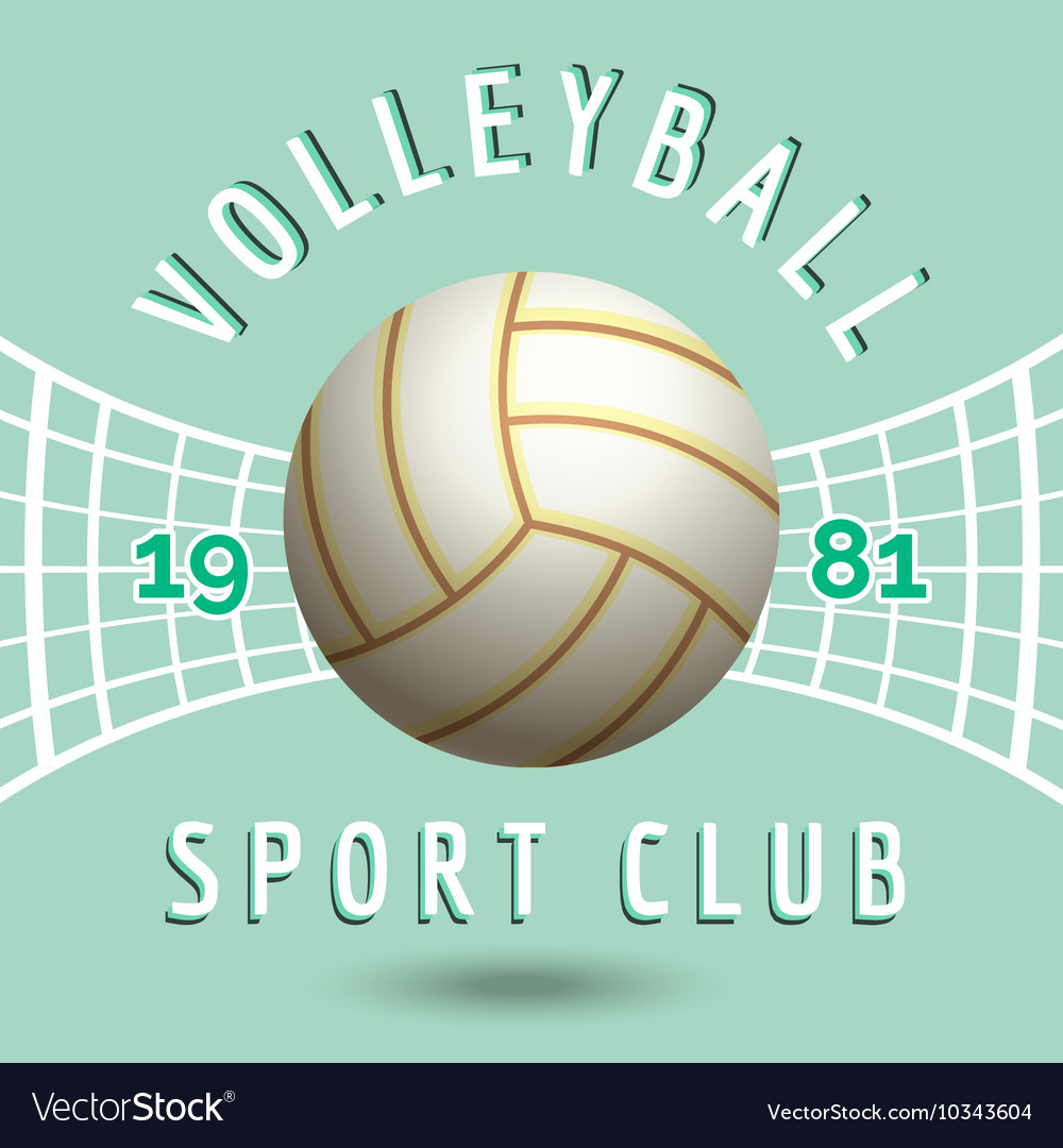 Volleyball sport team emblem
