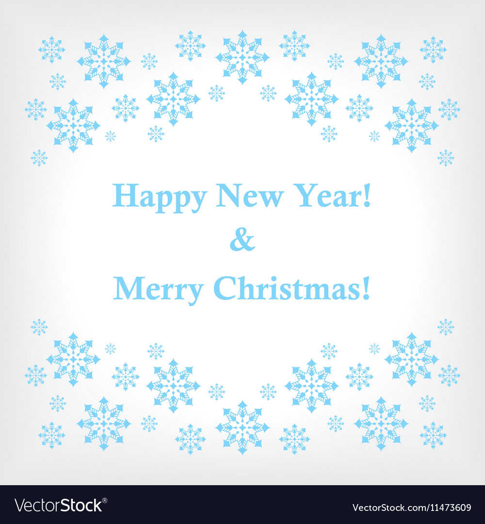 Banner or card with snowflakes as a