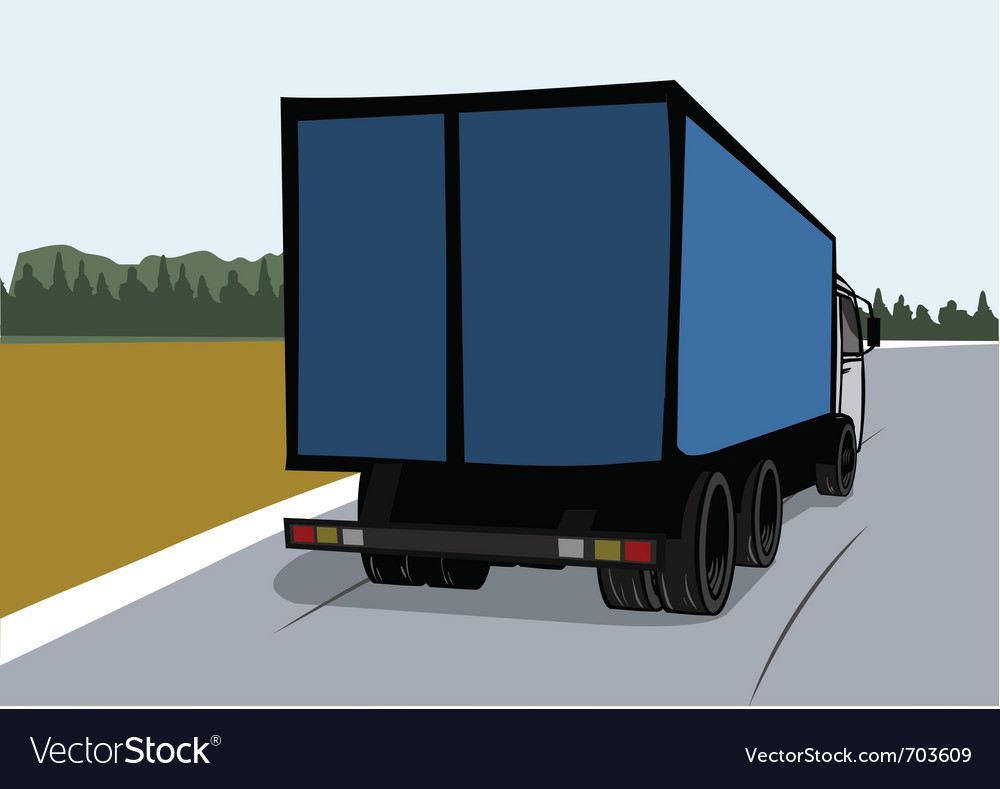 Cargo truck on the road