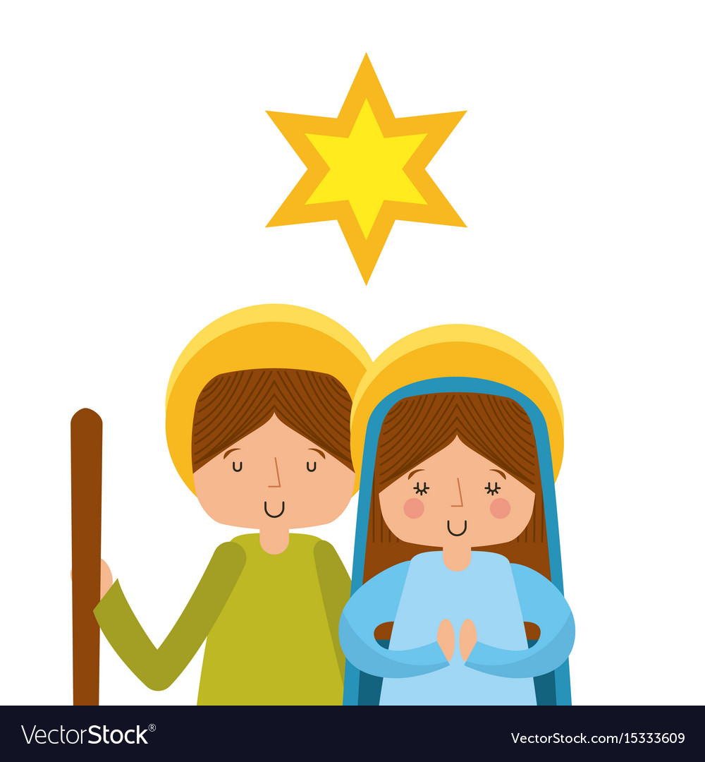 Manger characters isolated icon