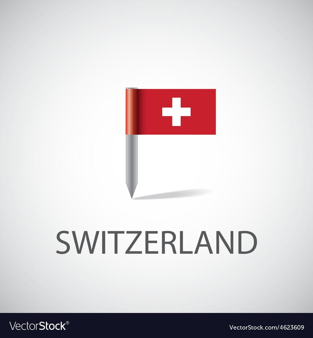 Switzerland flag pin