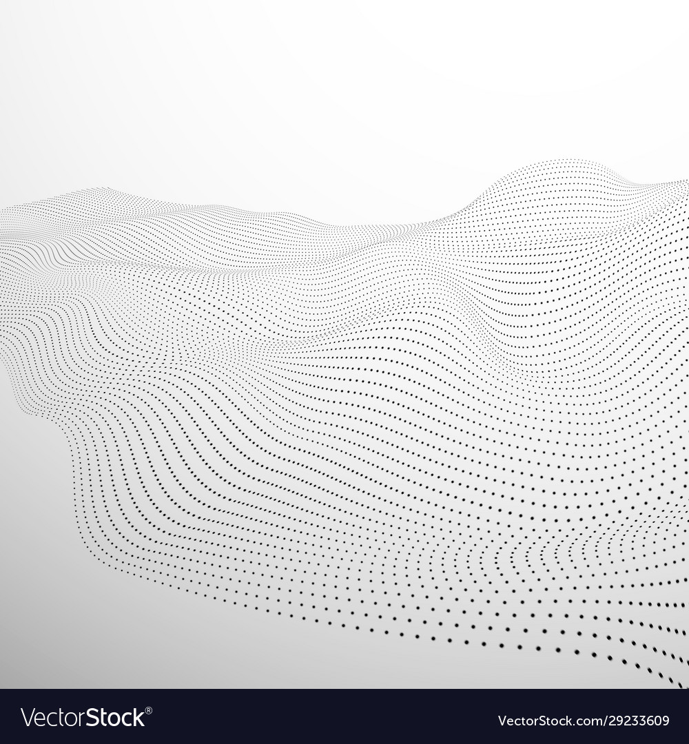 Technology futuristic landscape surface of vector