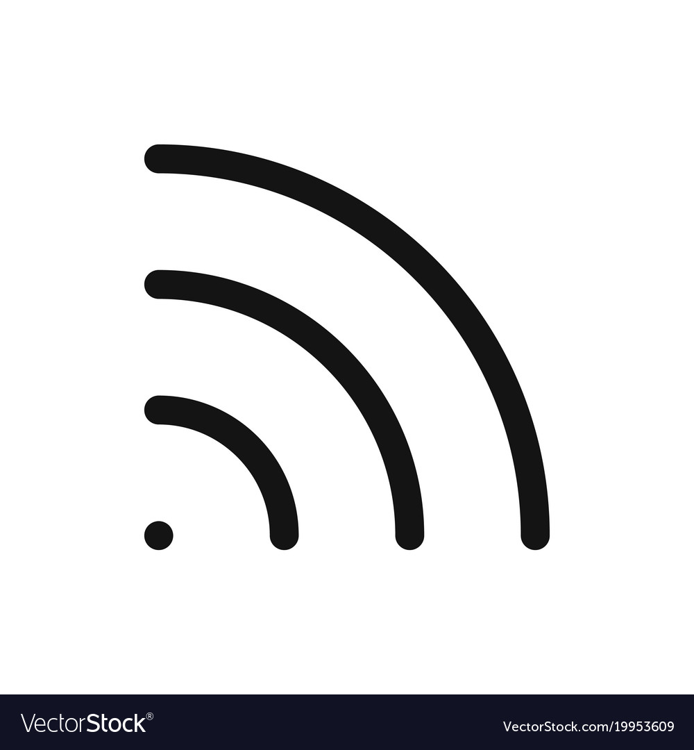 Wifi Symbol Wireless Internet Connection Or Vector Image Check out our wifi symbol selection for the very best in unique or custom, handmade pieces from our digital shops. vectorstock
