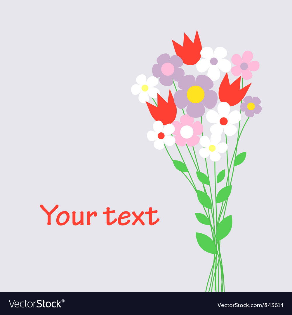 Cute bouquet of flowers Royalty Free Vector Image