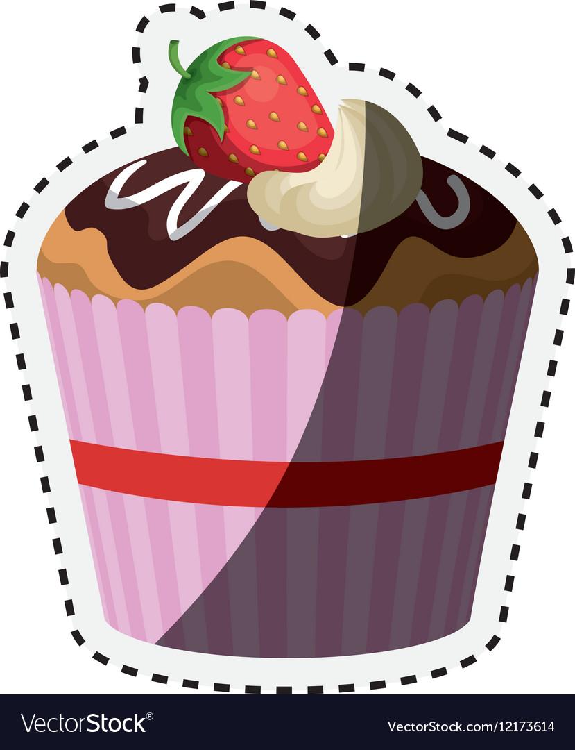 Delicious cupcake birthday card