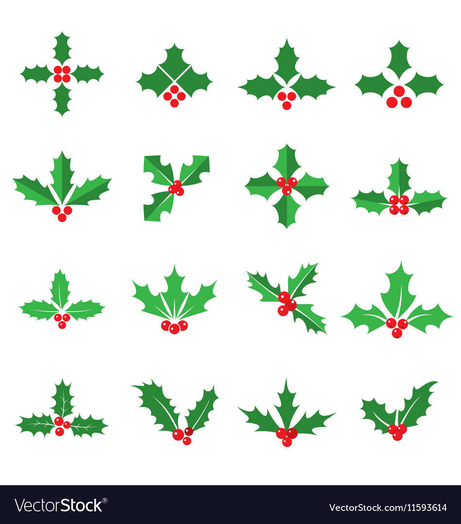 Holly berry icons