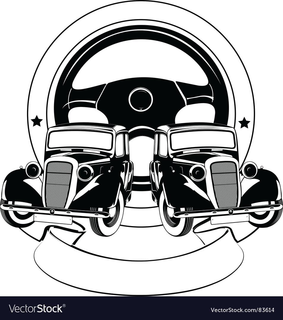 Old car emblem
