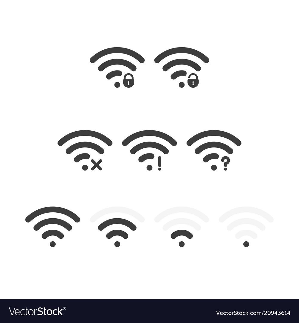 Set of wifi icons