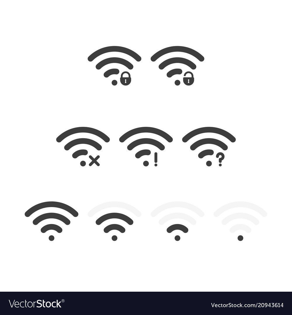Set wifi icons vector