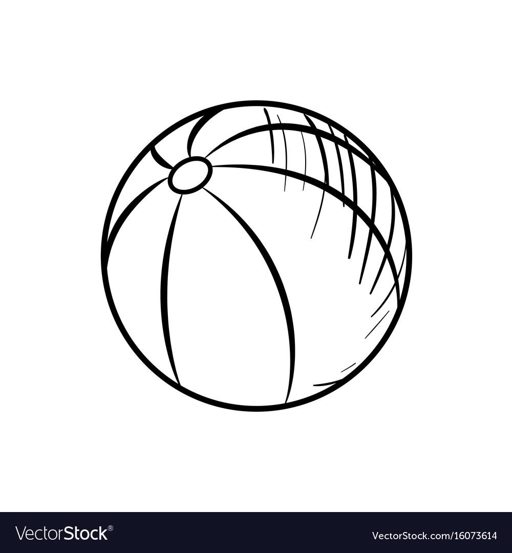 Sketch Baby Beach Ball Vector Image
