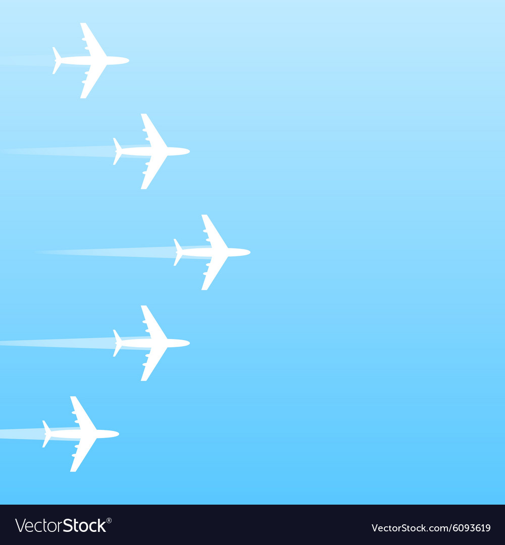 Air transport gradient background vector image