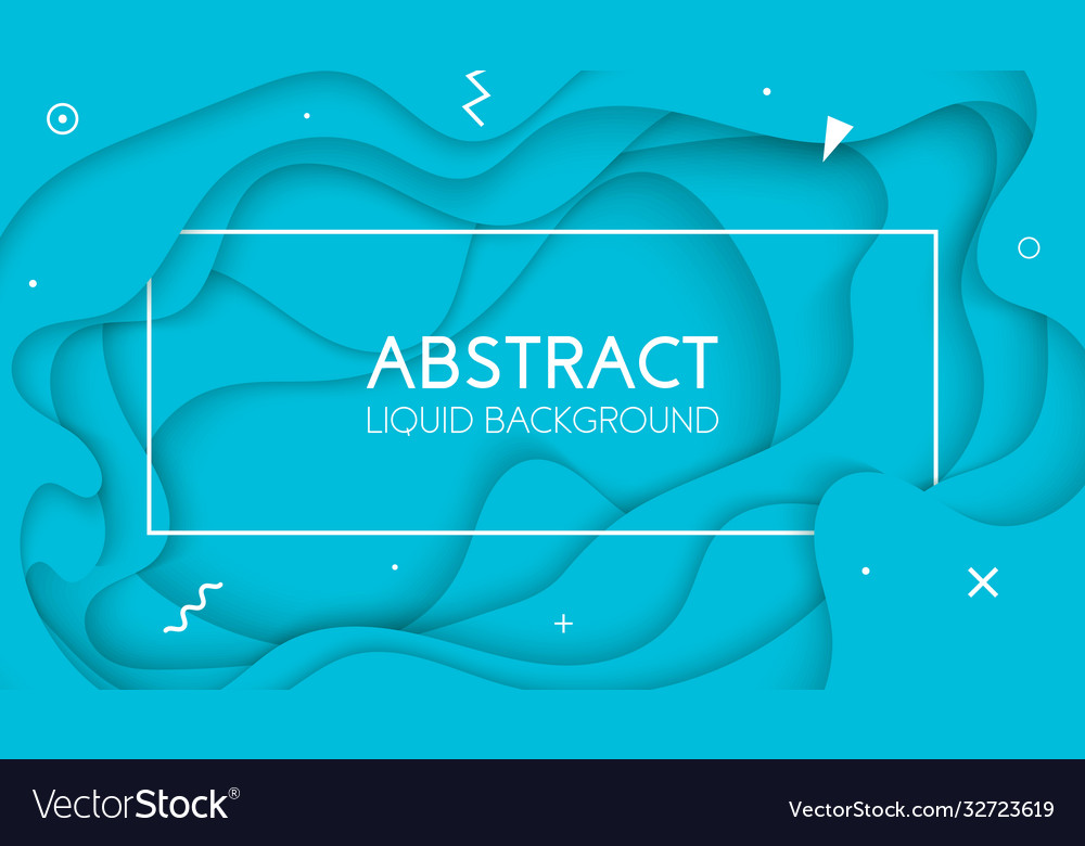 Background with light blue color paper cut shapes