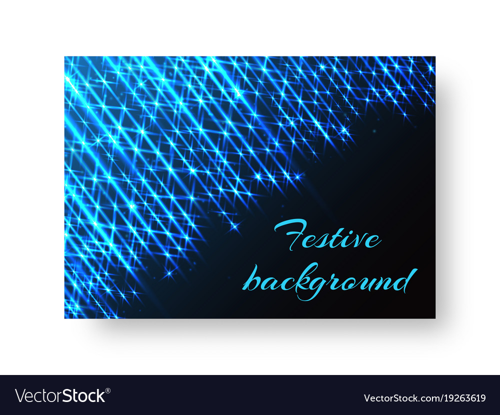 Celebratory pattern with neon light vector image