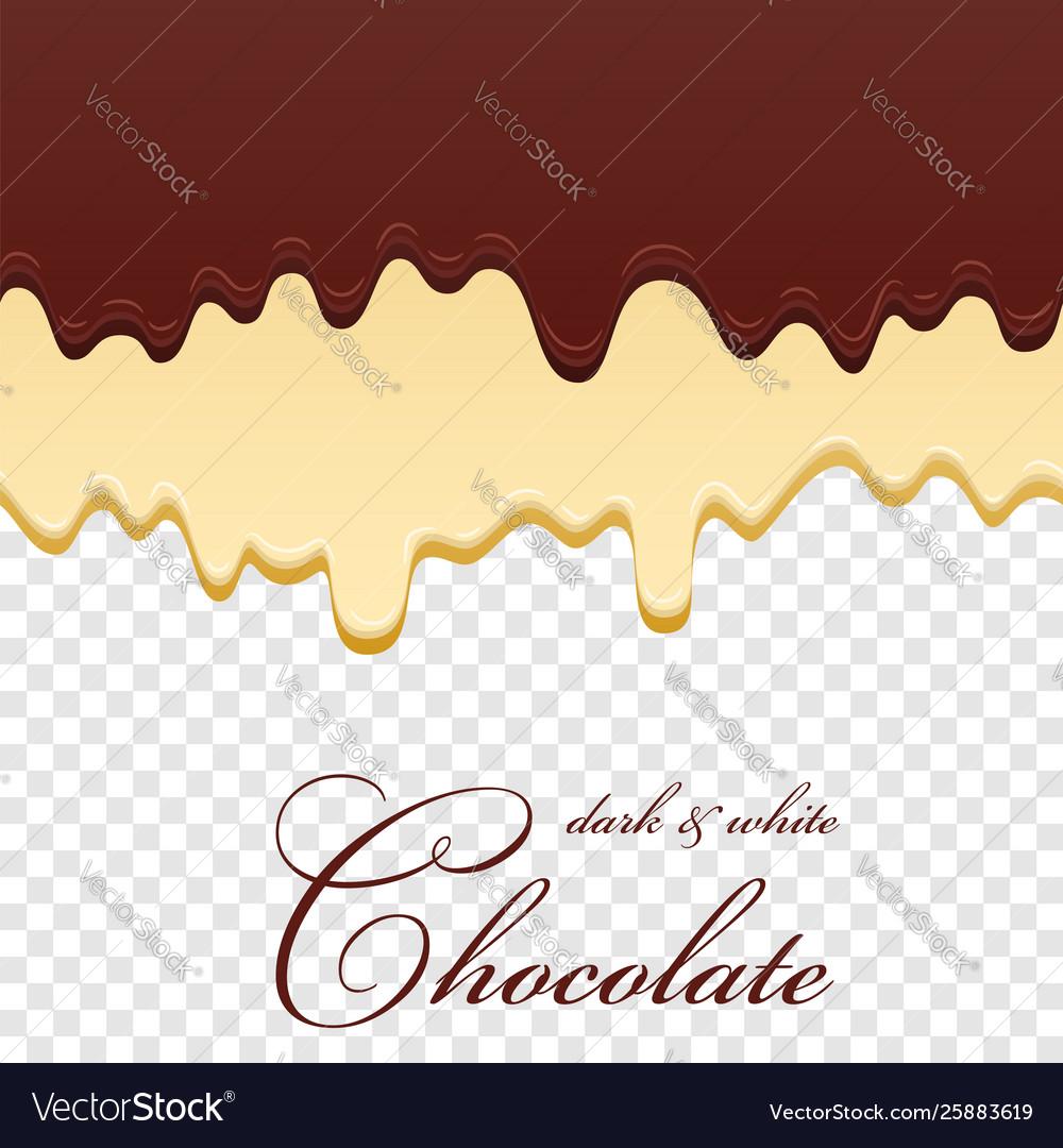 Chocolate seamless pattern drip dark milk