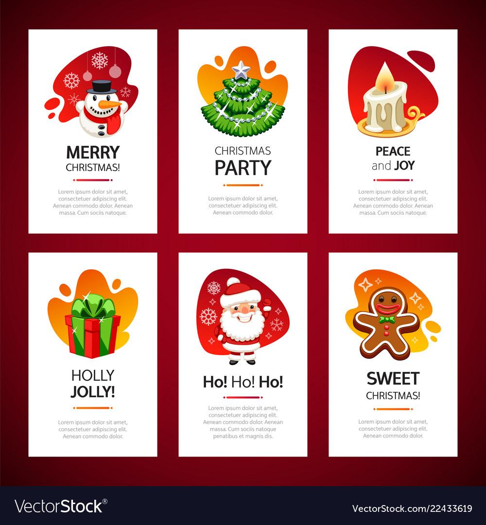 Christmas greeting cards light set
