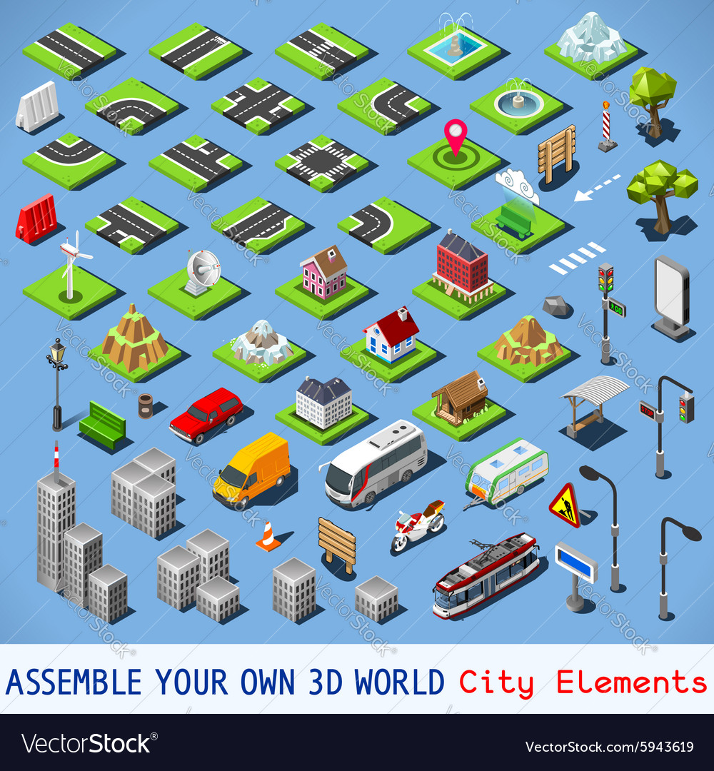 City 01 COMPLETE Set Isometric