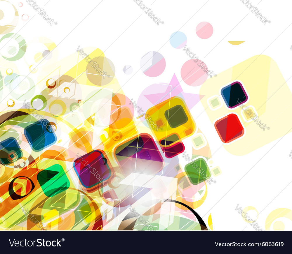 Colorful mosaic pattern design