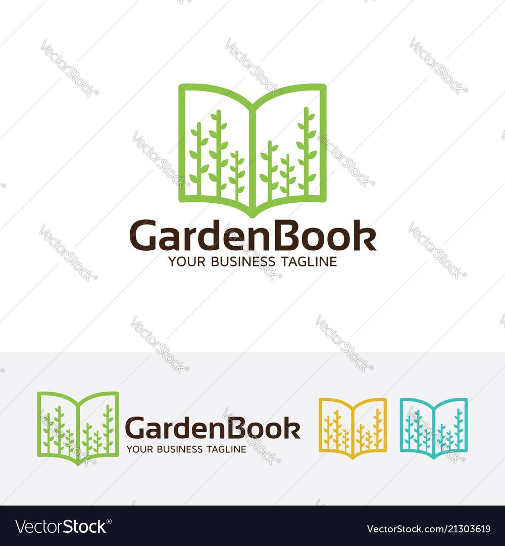Garden book logo design