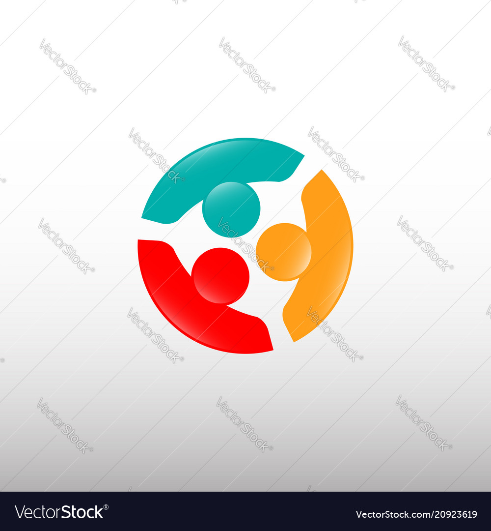 People connections logo template vector image