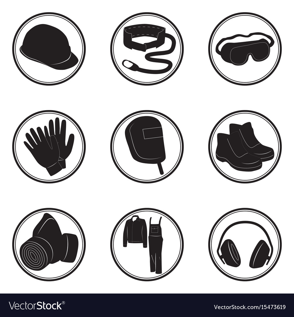 Personal Protective Equipment Icons Royalty Free Vector