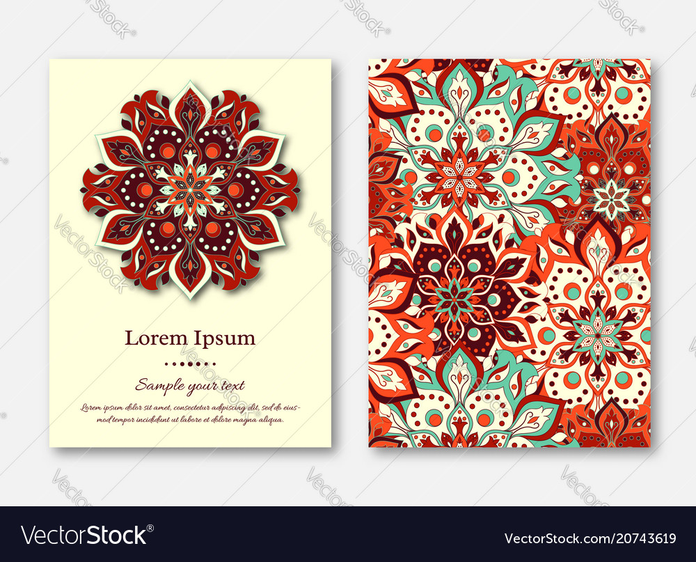 Set of cards flyers brochures templates with