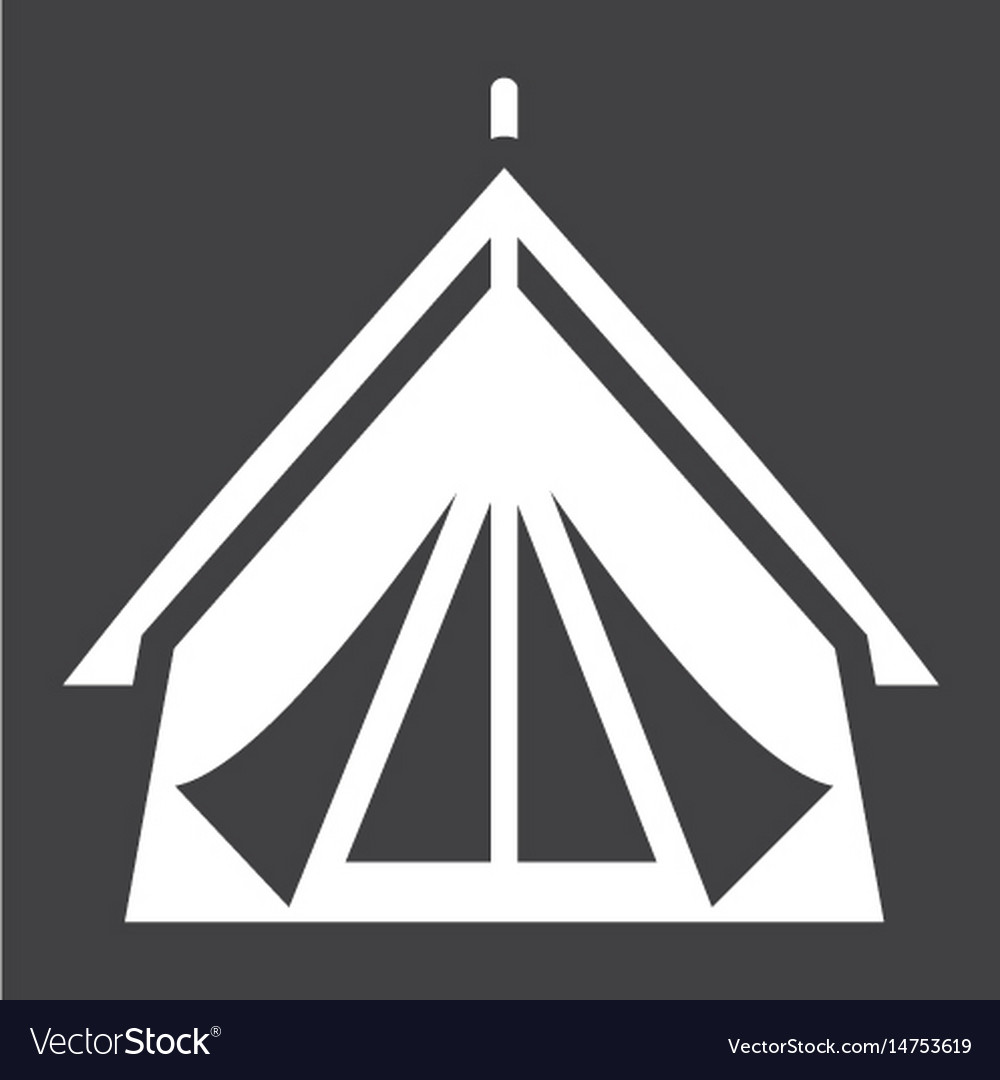 Tourist tent solid icon travel and tourism vector image