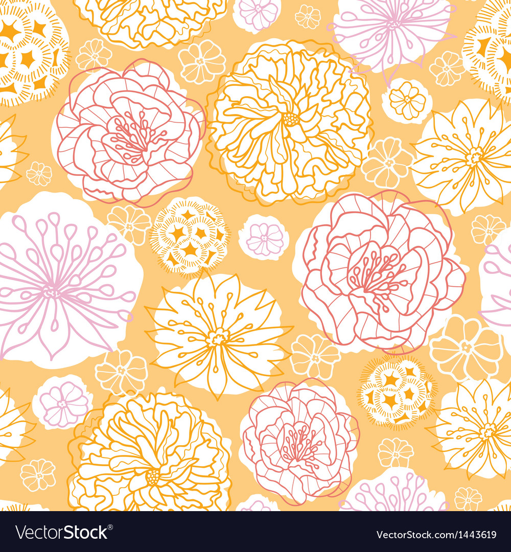 Warm day flowers seamless pattern background vector image