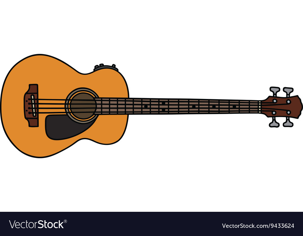 acoustic bass guitar royalty free vector image rh vectorstock com acoustic guitar vector icon acoustic guitar vector silhouette