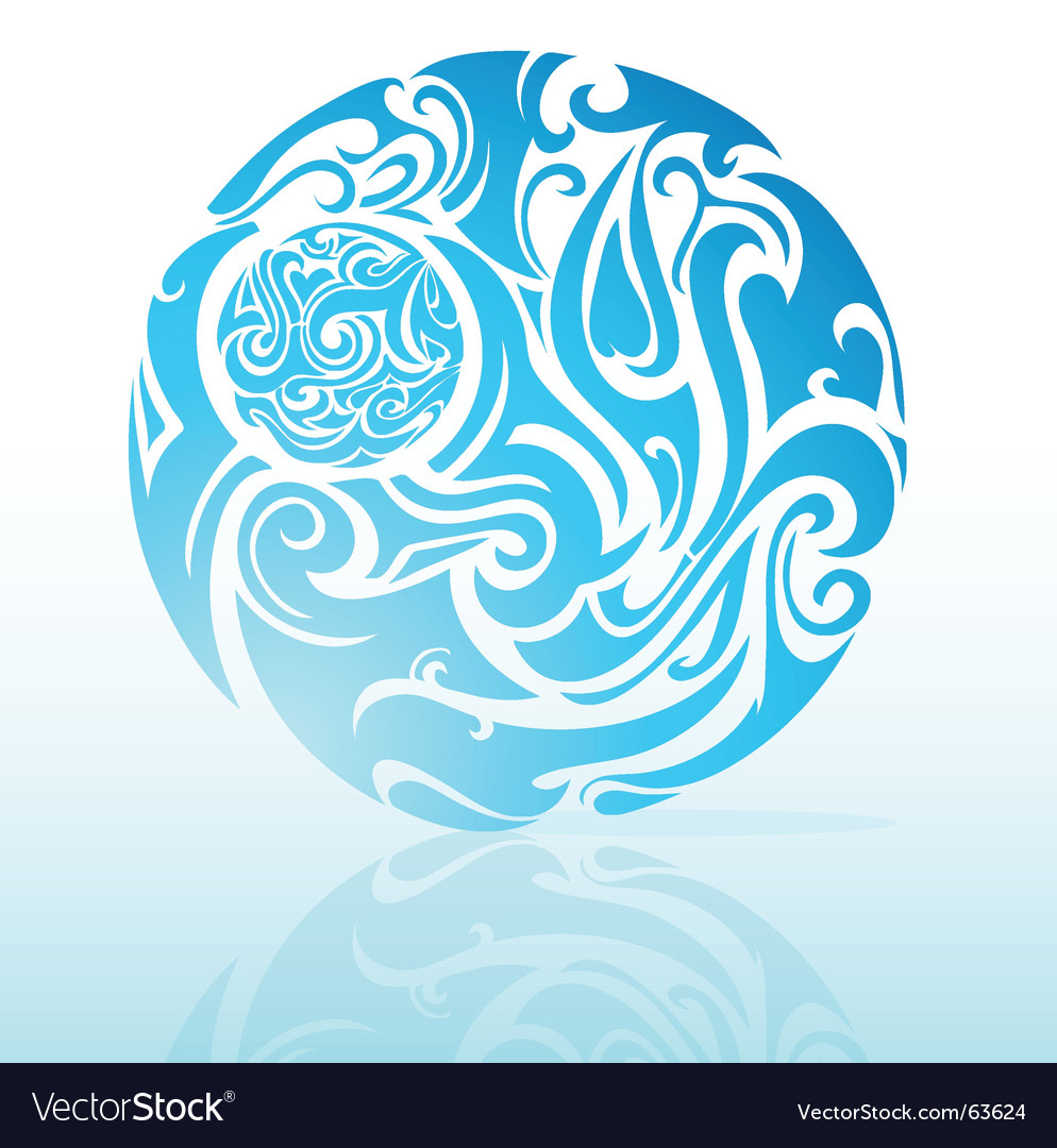 Artistic moon vector image