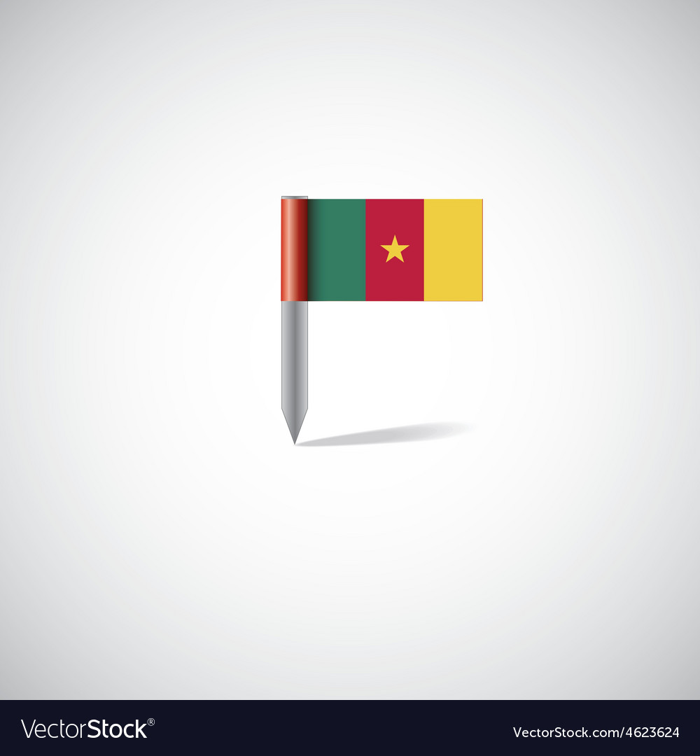 Cameroon flag pin
