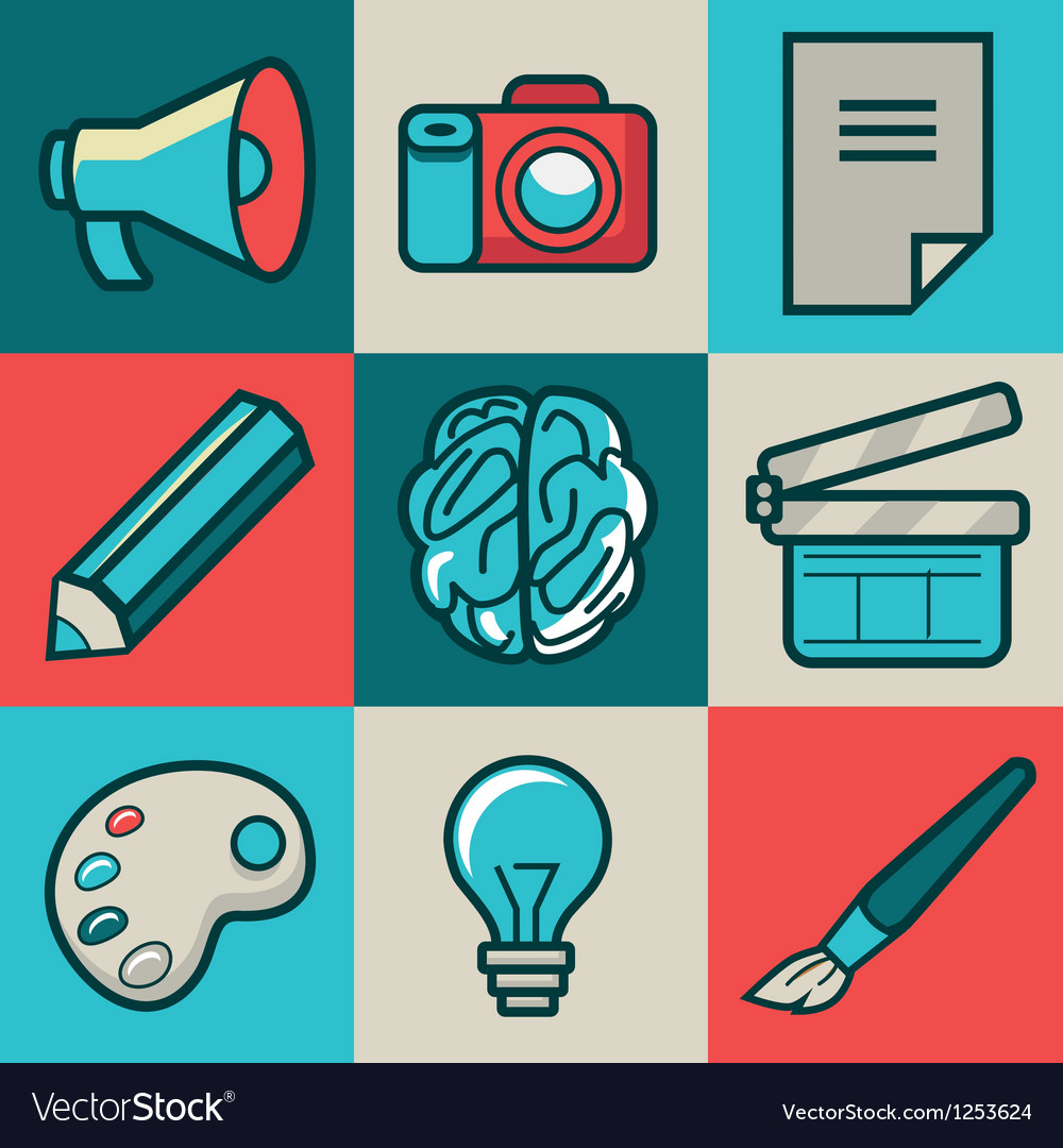 Creative icons vector image