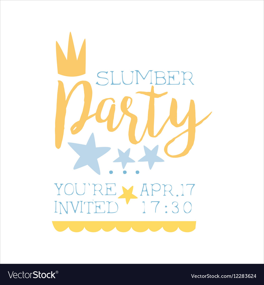 kids party invitation sleepover vector images 37