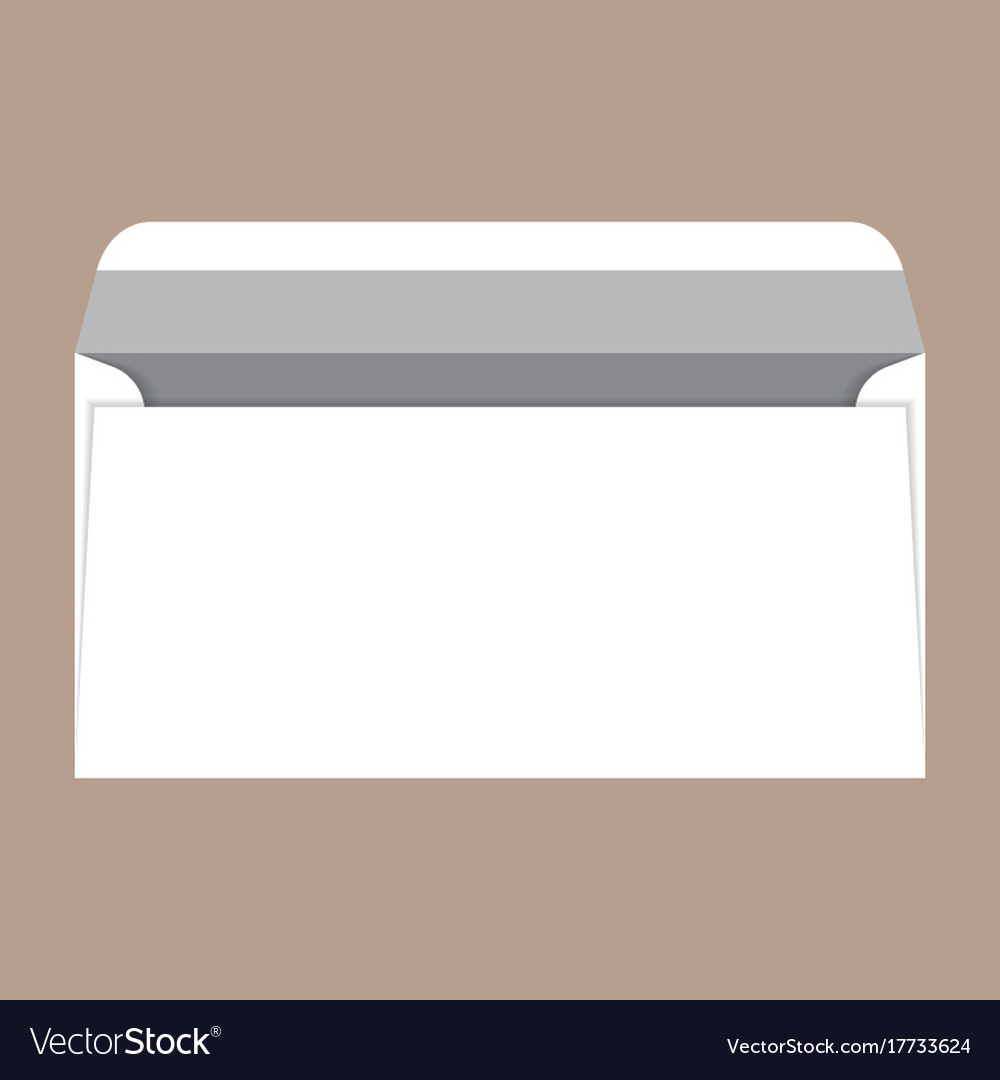 Open dl envelope mockup realistic style Royalty Free Vector